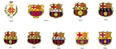 Емблемите на клуба през годините